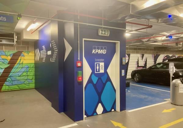 Habillage parking KPMG Luxembourg