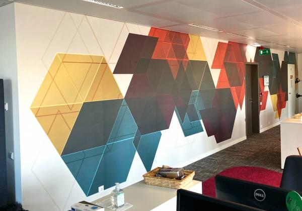 AXA Assurances Luxembourg - décoration murale - Place de l'Etoile