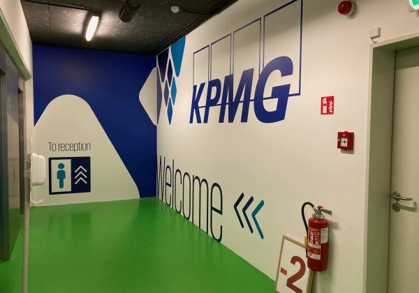 décoration murale KPMG Luxembourg