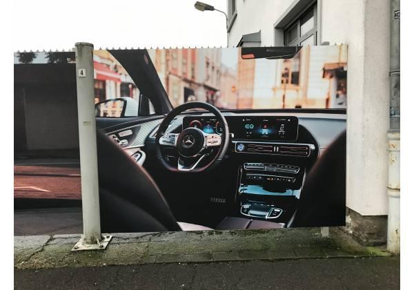mercedes panneau publicitaire steinfort