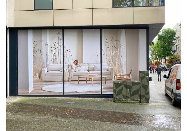 BOLIA, Luxembourg, lettrage vitrines, print xxl