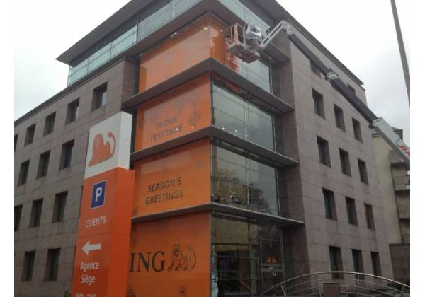 banque ing habillage façade tacotac luxembourg