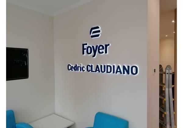 logo 3D rétro-éclairé luxembourg