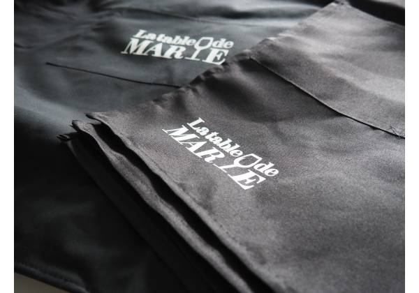 flocage textile tablier restaurant