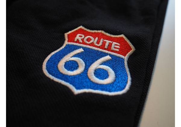 route 66 broderie 3 couleurs