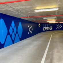 Peinture rampe parking kirchberg